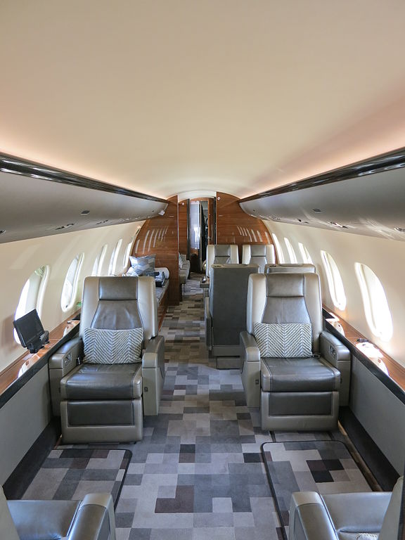 576px bombardier global 6000 interior