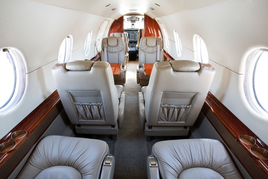 Hawker 400xp n471xp interior forward